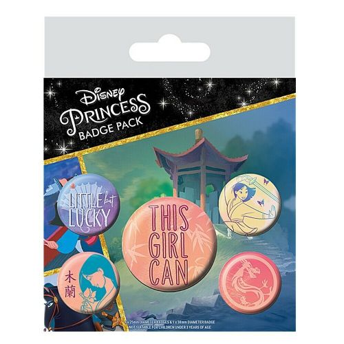 Disney Mulan This Girl Can Button Badge Pack
